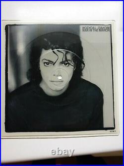 Michael Jackson Man In The Mirror Square Picture Disc 7Vinyl Extremely Rare