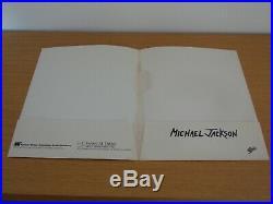 Michael Jackson Moonwalker Thriller Promo Folder Poster Japan Sticker MEGA RARE