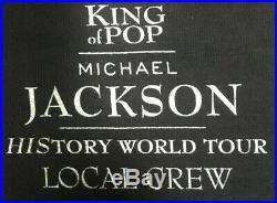 Michael Jackson New XL 1995 History World Tour Local Crew Shirt EXTREMELY RARE