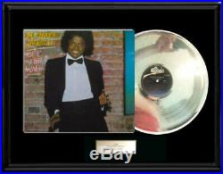 Michael Jackson Off The Wall Album Framed Lp Silver Platinum Tone Record Rare