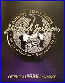Michael Jackson Official Mj 45 Birthday Celebration Vip Program Book Ultra Rare