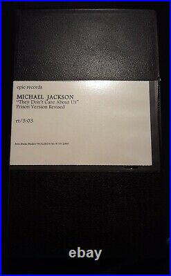 Michael Jackson Official They Don't Care About Us Epic Promo Vhs Ultra Rare