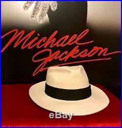 Michael Jackson Owned Worn White Fedora Hat Live Concert Authentic Original Rare