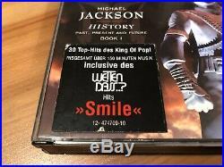 Michael Jackson RARE HIStory 2 CD Set with SMILE STICKER zurückgezogen withdrawn