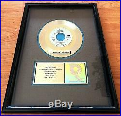 Michael Jackson RIAA AWARD OFF THE WALL Gold Single To Epic Records! RARELY