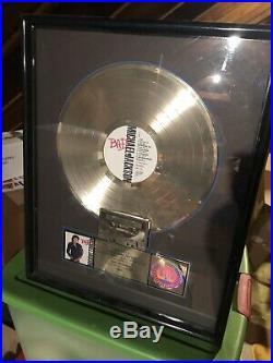 Michael Jackson RIAA Gold Award Plaque Very Rare