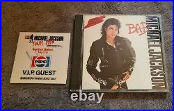 Michael Jackson Rare Official Bad Tour Vip Ticket Pass Wembley