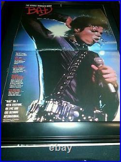 Michael Jackson Rare Original Bad Promo Poster Ad