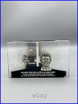 Michael Jackson Rare Thriller 35 Million Sales Lucite Award CHIPPED 1980s