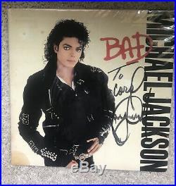 Michael Jackson Rare autographed BAD album