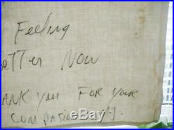 Michael Jackson, Rare hand written message from 1992. Provenance provided