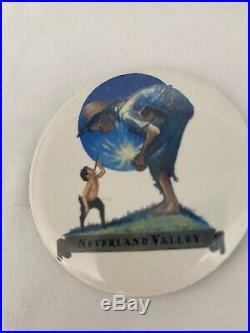 Michael Jackson Really Rare Orginal Button Neverland Valley Ranch Fedora Signed