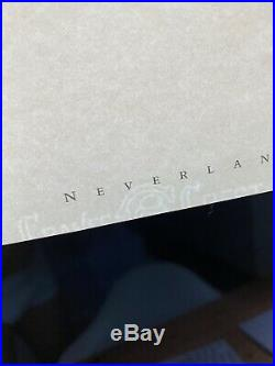 Michael Jackson Really Rare Orginal Stationary Neverland Valley Ranch Signed
