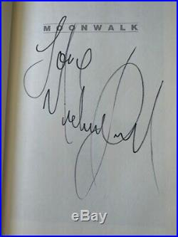 Michael Jackson SIGNED Moonwalk Book Pre-Authenticated by R. EPPERSON RARE