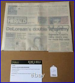 Michael Jackson Signed 1984 Los Angeles Herald Newspaper Jacksons COA Rare