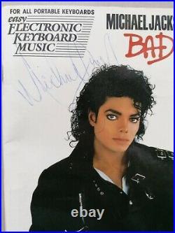 Michael Jackson Signed Autograph Keyboard Book Rare No Promo