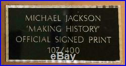 Michael Jackson Signed Making History Print in Frame No. 107 of only 400 Rare