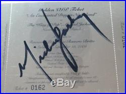 Michael Jackson Signed Original Enchanted Day In Neverland Golden Ticket Rare +