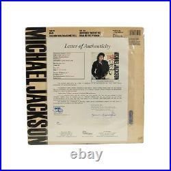 Michael Jackson Signed Vinyl Album Cover Bad ORIGINAL with JSA LOA RARE