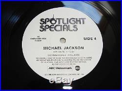 Michael Jackson Spotlight Special 2 LP Box Set For Radio Broadcast Mega Rare