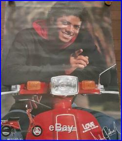 Michael Jackson Suzuki Love retailer poster bike rare japan not for sale