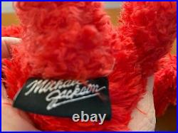 Michael Jackson This Is It Concert Licensed Bears Black And Red Pair Rare 2009