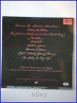Michael Jackson Thriller Signed Album Beckett (bas) Certified Autograph Rare