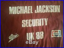 Michael Jackson Tour t-shirt Security UK 1988 Vintage and rare. Pop, rock music