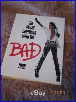 Michael Jackson Very Rare BAD Tour UK Promo Kit CD+Photo+Binoculars+Info Sheets