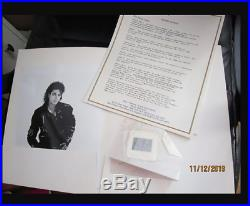 Michael Jackson Very Rare BAD USA LP press Kit with 8 Info Sheet+ Slide +1 Photo