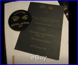 Michael Jackson Very Rare Promo Dangerous Party 11/20/91 Savoy Hotel Set 4 Pcs