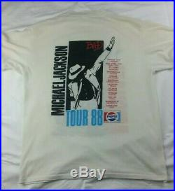 Michael Jackson Vintage Bad Tour Shirt VERY RARE! Moonwalk Pepsi