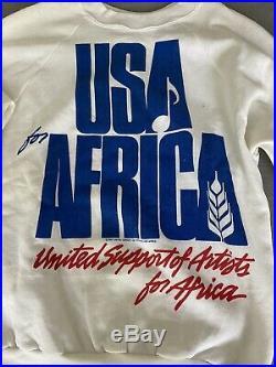 Michael Jackson We Are The World Shirt, USA For Africa Orginal Mega Rare Signed