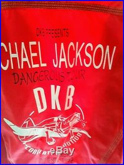 Michael Jackson extremely rare danish crew dangerous tour jacket Copenhagen 1992