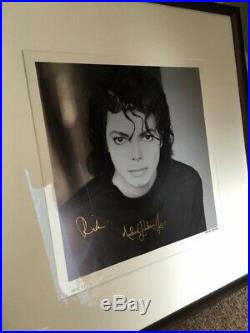 Michael Jackson limited lithograph Signed autograph very rare Man in the mirror