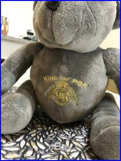 Michael Jackson plush toy Doll Rare Kawaii LImited THIS IS IT Bear Charcoal