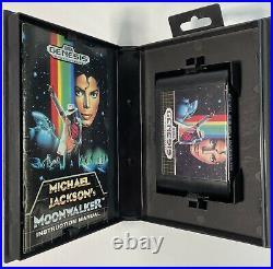 Michael Jackson's Moonwalker 1990 SEGA GENESIS Game Rare COMPLETE CIB AMAZING