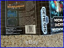 Michael Jackson's Moonwalker Sega Genesis, Complete with extremely rare poster
