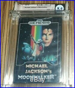 Michael Jackson's Moonwalker Sega Genesis Sealed Mint Gold WATA 9.4 A Super RARE