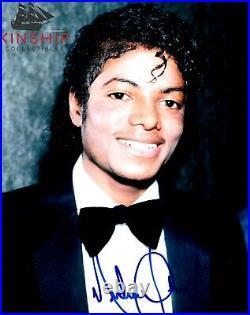 Michael Jackson signed 8x10 Photo JSA LOA AUTO GRADE 9 Rare Bold d. 2009 Z733