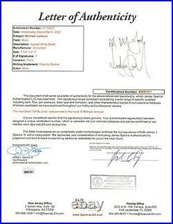 Michael Jackson signed Inscribed Cut JSA LOA Rare Bold Auto Z531