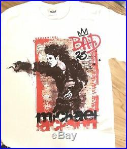 Michael jackson BAD Deluxe Box CD DVD Ticket Book Tshirt Vintage Pepsi Vip Rare