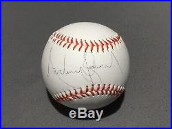 Michael jackson signed baseball proof rare