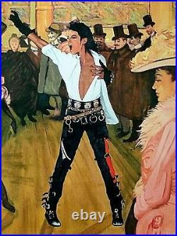 Mr. Brainwash Michael Jackson Rare Limited Lithograph Print Poster 2010 Icons