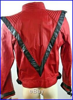 New Rare Metal 1984 Vintage Michael Jackson Thriller Jacket Leather Size 42