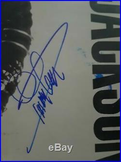 Quincy Jones Music Legend Q. Signed Michael Jackson Bad Record Vinyl Album Rare