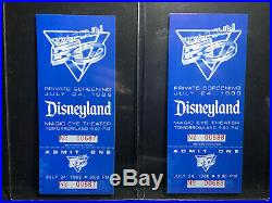 RARE 1986 Disneyland Captain EO with Michael Jackson Private Screening 1 Ticket