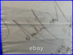 RARE GENUINE Michael Jackson Signed Pice Of Pillow Autogramm Orginal