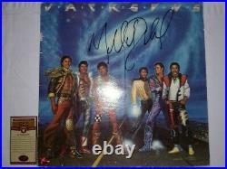 RARE MICHAEL JACKSON Hand-Signed Autographed JACKSON 5 VICTORY Album with COA