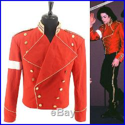 RARE MICHAEL JACKSON MJ Cotton Military England Style Informal Dress Red Jacket